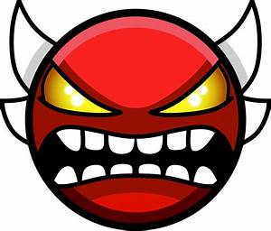 Geometry Dash Demon Face - WallsKid