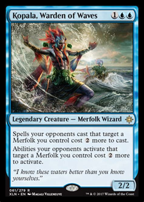mtg merfolk deck ixalan kopala warden of waves ixalan spoiler