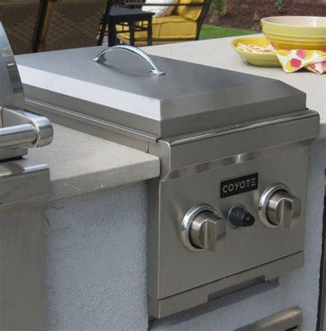 outdoor kitchen built fryer deep burner gas propane side kitchens double coyote