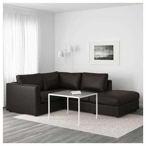 canapé d angle sans accoudoir vimle canapé d 39 angle 3 places sans accoudoir farsta noir