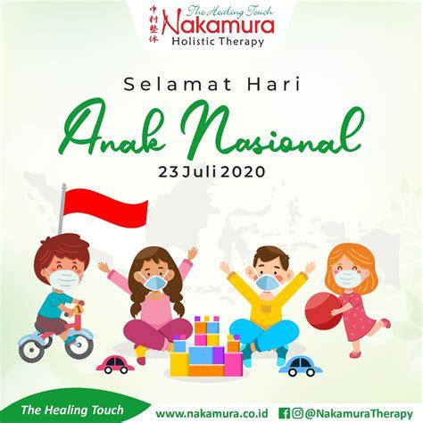 hari anak nasional jadikan anak indonesia pembawa