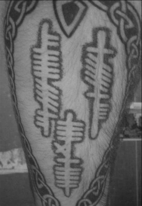 50 Ogham Tattoo Designs For Men - Ancient Alphabet Ink Ideas
