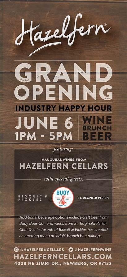 Opening Grand Wine Beer Brunch Industry Happy