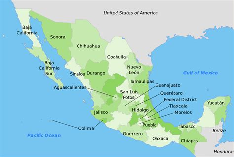 File:Mexico map (english).svg - Wikimedia Commons