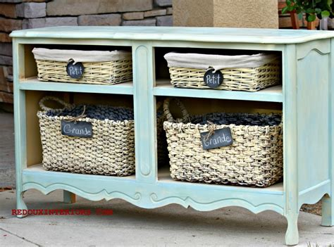 dresser with baskets dressers missing drawers how to repurpose them