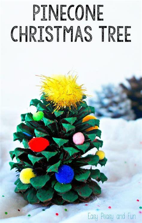 pinecone christmas tree decoration crafts activities