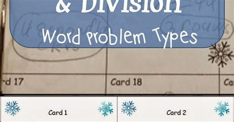Multiplication and division are closely related, given that division is the inverse operation of multiplication. Read more about the 9 problem types for multiplication and division word problems and grab a ...