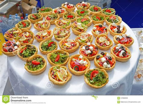 canapé cuisine canapes pastry stock photo image 57868938