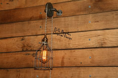 pulley wall light industrial wall sconce pendant light aged pulley ebay
