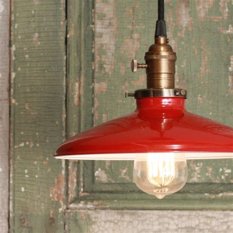 pendant light with enamel shade by lucent lworks