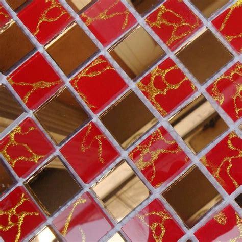 floor mirror tiles wholesale mosaic tile crystal glass backsplash dining room design bathroom wall floor gold