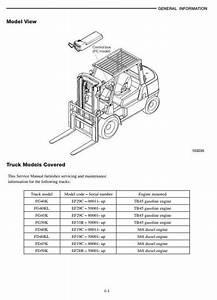 Mitsubishi Diesel Forklift Truck Fd40k  Fd45k  Fd45kl