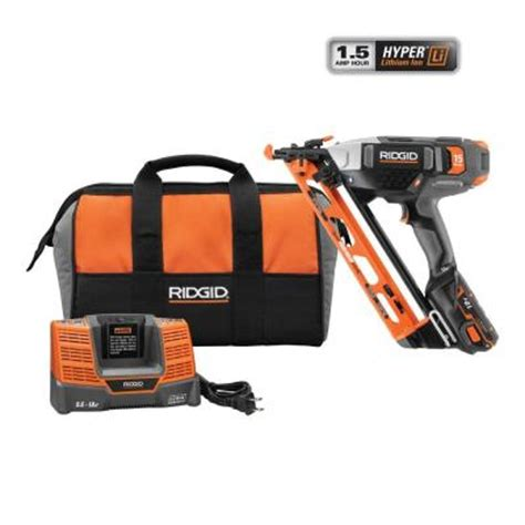 18 Floor Nailer Home Depot by Ridgid 18 Volt Cordless 15 Angled Nailer R250af18