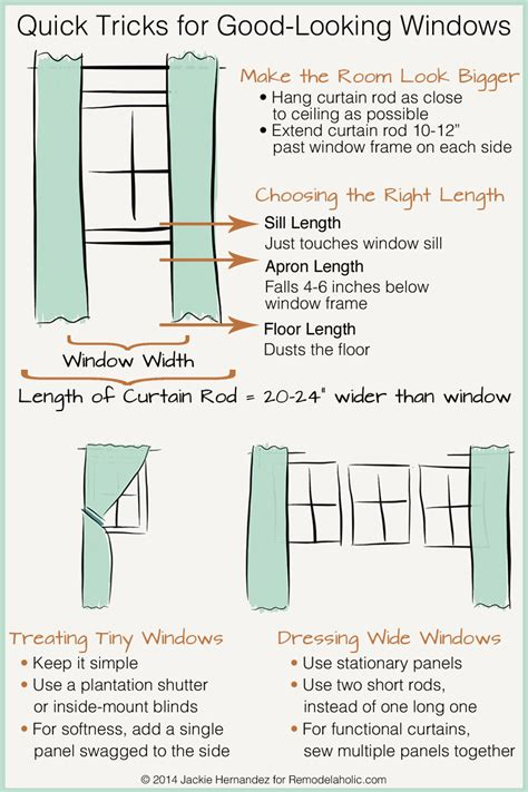 remodelaholic universal tricks for looking curtain
