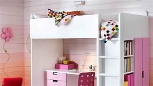 Lit Haut Ikea : comment am nager un lit mezzanine pour une petite fille ~ Teatrodelosmanantiales.com Idées de Décoration
