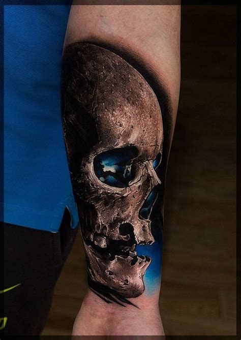 Realistic Skull With Pictures To Pin On Pinterest Tattooskid