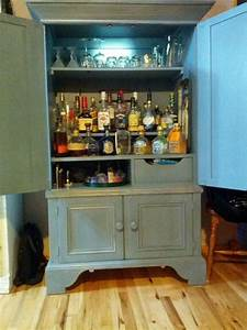 Armoire Made Into A Liquor Cabinet For The Home