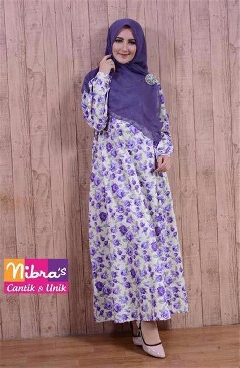 Harga Gamis Merek Nibras jual baru gamis nibras ns 09b ungu original model gamis