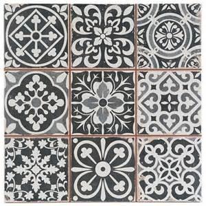 decor tiles and floors marrakesh black decor wall floor tile 33x33cm ebay