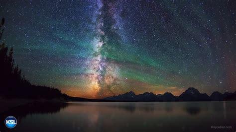 night sky airglow grand teton airglow  jackson