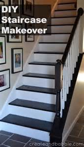 idea for kitchen staircase makeover create and babble