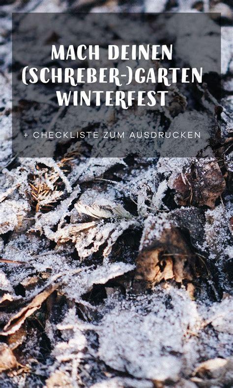 Garten Winterfest Machen Mulch by Mach Deinen Schreber Garten Winterfest Garten