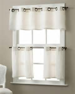 Kitchen Window Curtains Grommet