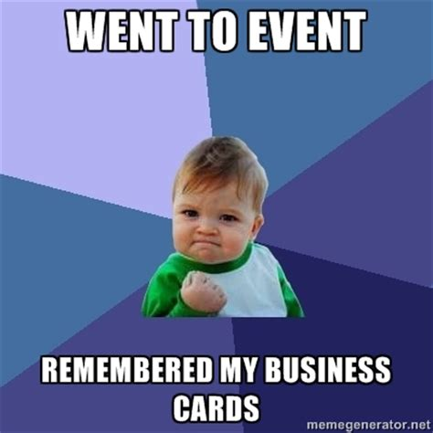 Business Card Meme - how to quickly load business card into contacts app to load business cards