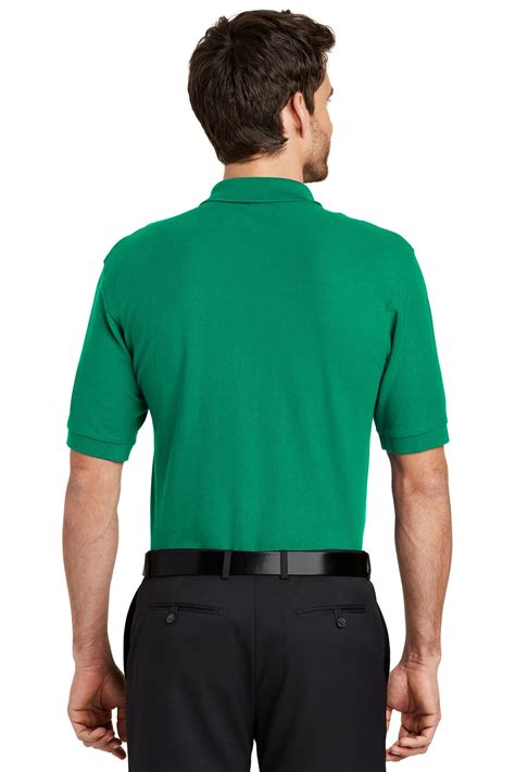 Greenlight Classic Polo Grey port authority 174 silk touch polo silk touch polos