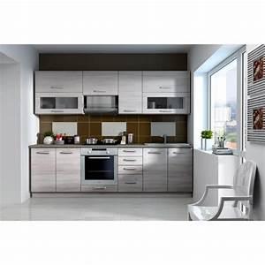 Cuisine Complète Pas Cher : lassen cuisine compl te 2m60 d cor ch ne clair sonoma ~ Melissatoandfro.com Idées de Décoration