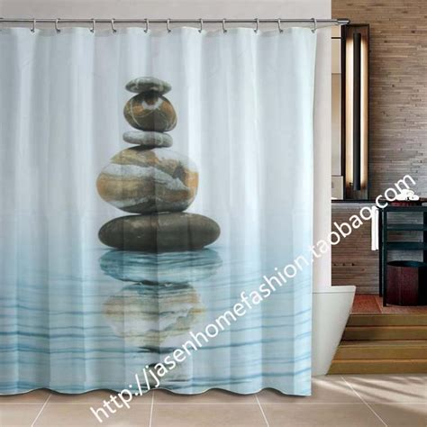 bathroom products fabric shower curtain 180x200cm