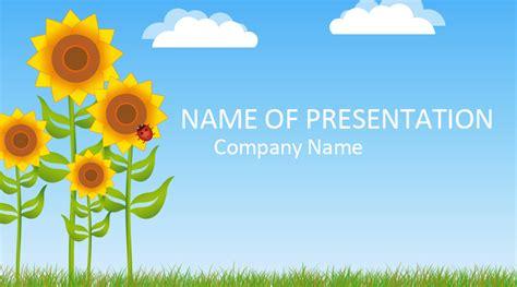 sunflower powerpoint template templateswisecom