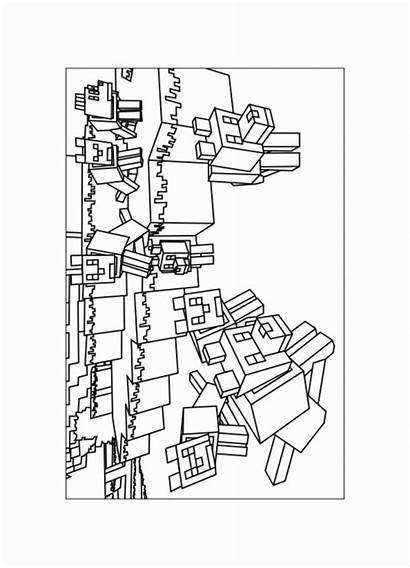 Minecraft Coloring Printable Pigman Coloriage Mine Craft