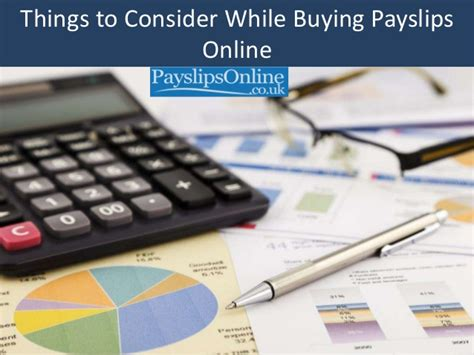 Things To Consider While Buying Payslips Online