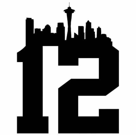 Download seattle seahawks logo vector in svg format. NFL Seattle Seahawks 12th Man Die Cut Vinyl Decal PV1021 ...