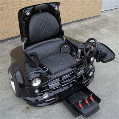 a mini cooper turned into a badass gaming chair bit rebels