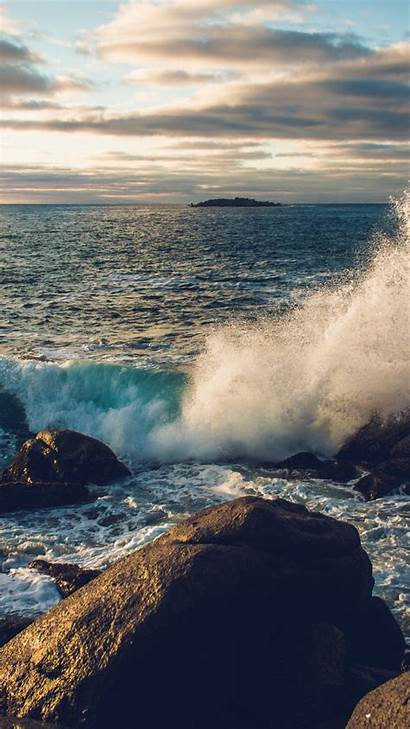 Iphone Sea Rock Water Wave Nature Cold