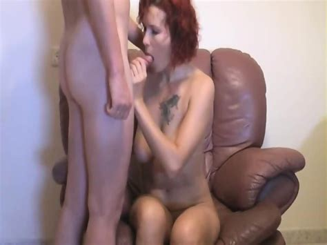 Redhead Amateur Mature Woman Sucking And Fucking On Sofa