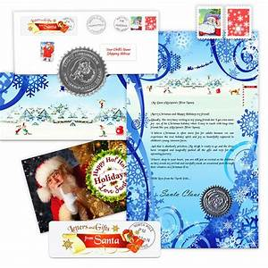 classic christmas letter and scroll from santa With santa claus letter packages