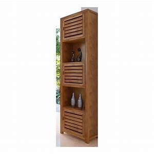 meuble haut de salle de bain teck legian With meuble haut salle de bain bois