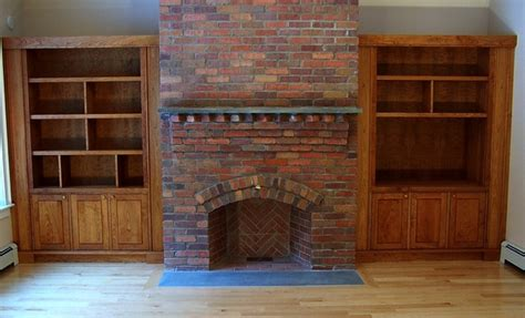 Fireplace With Bookcase Surround by Fireplace Surround Cherry Bookcases Built In