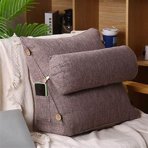 Adjustable, Backrest, Wedge, Pillow, Reading, U0026, Bed, Rest, Pillow, Perfect, Back, Support, Cushion, For