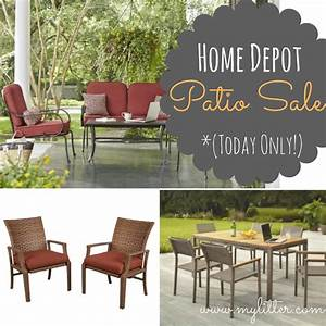 Home depot patio furniture sale 50 off sets today only for Patio furniture home depot