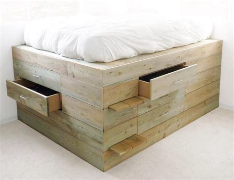Raised Platform Beds With Storage