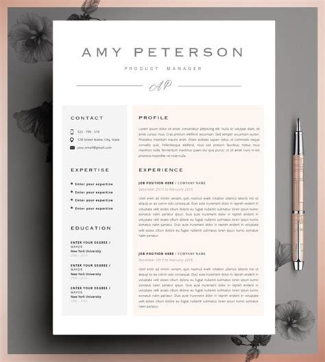 12120 professional creative resume exles creative resume template cv template instant by cvdesignco