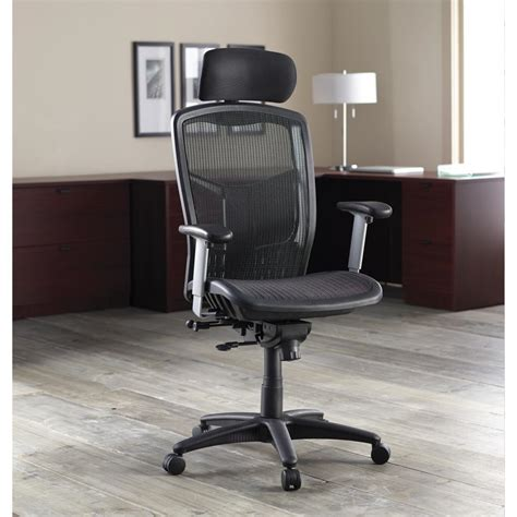lorell executive high back chair mesh fabric