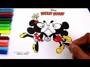 Drawing Mickey Mouse Minnie Kissing Cartoons Disney Shorts ...