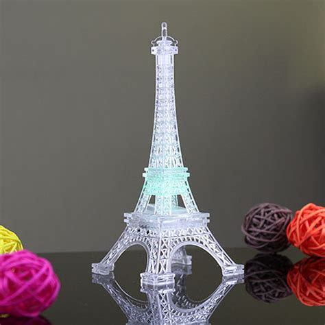 eiffel tower led color changing night light wedding