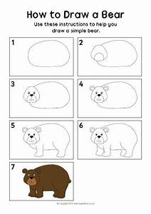 How To Draw A Bear Instructions Sheet  Sb11506