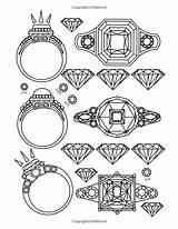 Coloring Jewels Adult Gems Printable Dani Kates Bo sketch template